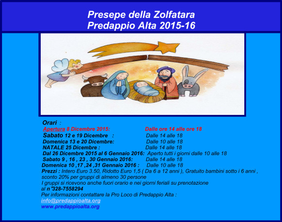 Presepe della Zolfatara 2015-2016