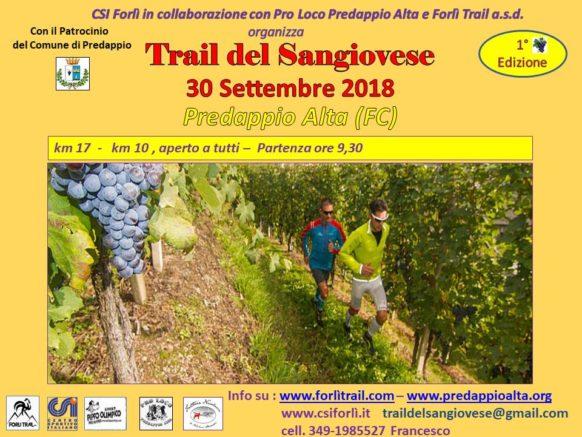 Prima edizione – Trail del Sangiovese e Festa della Mostatura